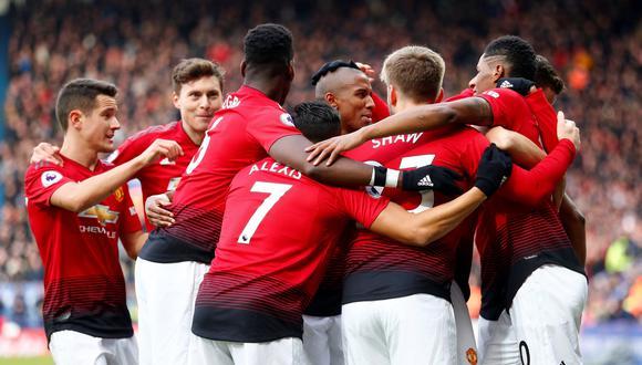 Manchester United ganó 1-0 al Leicester City por la fecha 25º de la Premier League. (Foto: AFP).