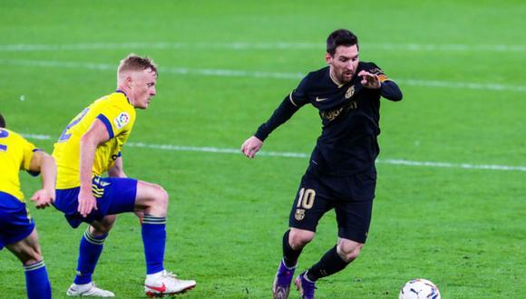 Lionel Messi, protagonista en el Barcelona vs. Cádiz | Foto: @FCBarcelona