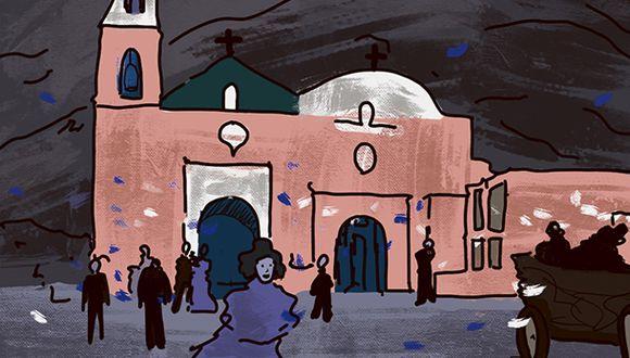 """""""Hoy, desde muy temprano, comenzaron a llegar al balneario centenares de personas procedentes de Lima para unirse a los festejos"""". (Ilustración: Giovanni Tazza)."""