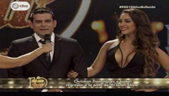 """El gran show"": Christian Domínguez vuelve a la pista"