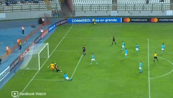 Sporting Cristal vs. Olimpia: el gol de Mendieta para el 2-0 que silenció el Estadio Nacional. (Foto: captura)