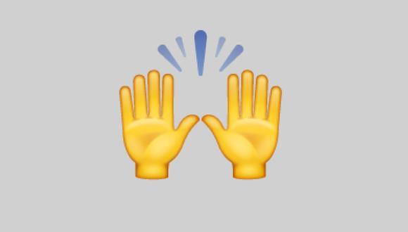 Conoce el verdadero significado del emoji de las manos levantadas en WhatsApp. (Foto: Emojipedia)