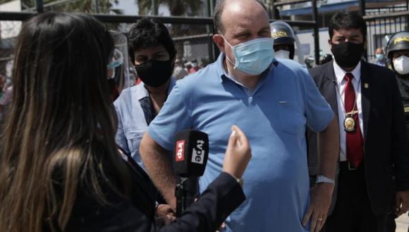 """""""Quiero aclarar que no he conversado con el candidato Pedro Castillo. Tampoco tengo ninguna reunión pactada con él"""", señaló López Aliaga. (Foto: GEC)"""
