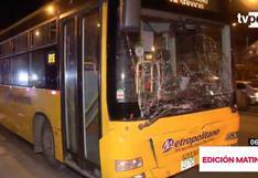 Accidente entre alimentador del Metropolitano y combi deja al menos 10 heridos | VIDEO