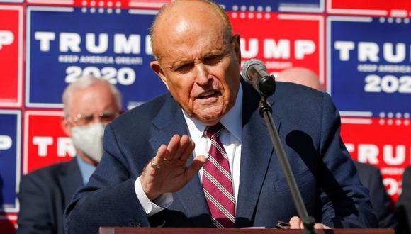 El exalcalde de Nueva York Rudy Giuliani lidera el equipo legal de Donald Trump. (Reuters).