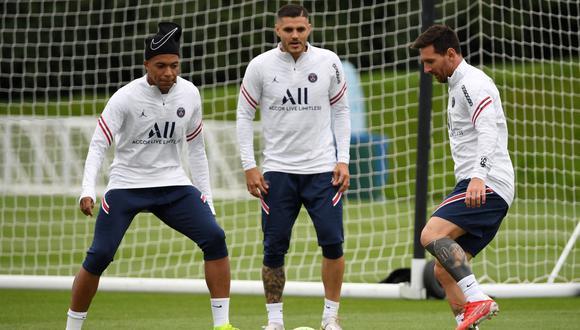 Messi y Mbappé podrían jugar juntos por primera y única vez. (Foto: AFP)