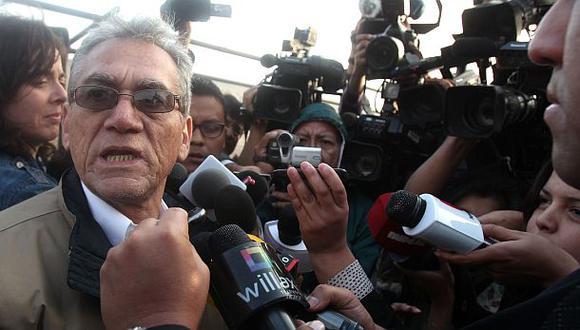 Ayer Alfredo Crespo y el resto de la cúpula del Movadef salieron de la cárcel. (Foto: Andina)