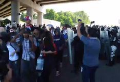 Más de un millar de migrantes marchan del sur al centro de México
