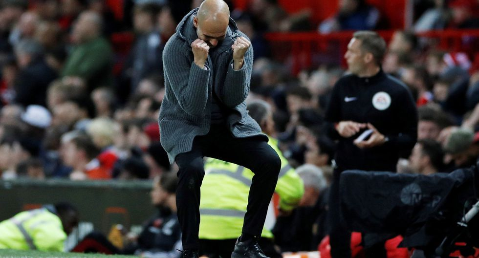 Manchester United vs. Manchester City: Sané anotó el 2-0 tras floja reacción de David de Gea. (Foto: Reuters)