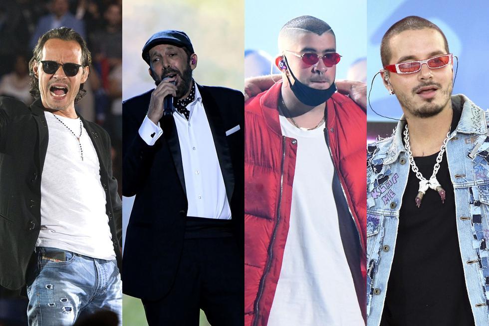 Marc Anthony, Juan Luis Guerra, Bad Bunny y J Balvin son algunos de los latinos considerados en la lista de nominados a los Grammy 2020. (Foto: Agencia)
