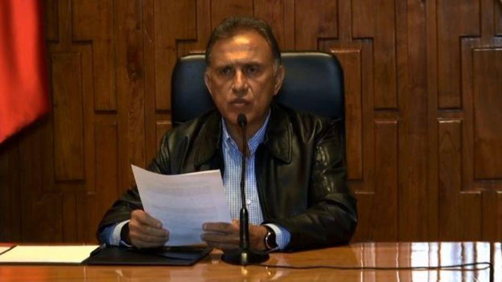 """El gobernador Miguel Ángel Yunes asegura que la hipótesis de la Fiscalía General está """"confirmada"""". (Gobierno de Veracruz)"""