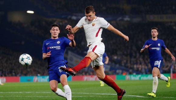 Edin Dzeko anotó soberbio gol de volea ante Chelsea por la Champions League. (Foto: Reuters)