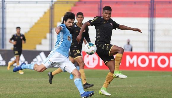 Sporting Cristal adelantó en el marcador con gol de Christofer Gonzáles, mientras que UTC de Cajamarca llegó a la igualdad con anotación de Erinson Ramírez en el estadio Iván Elías Moreno. (Foto: Twitter Oficial del Club Sporting Cristal)