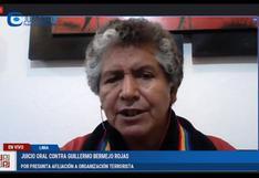 Testigo propuesto por la defensa del congresista Guillermo Bermejo admite que es investigado por terrorismo