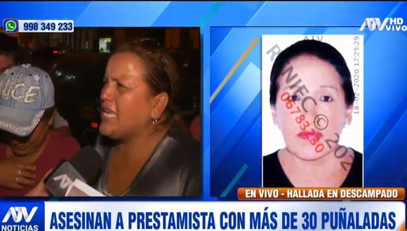 Los familiares de Rosa María Barreto exigieron a las autoridades que identifiquen y capturen al asesino. (ATV)