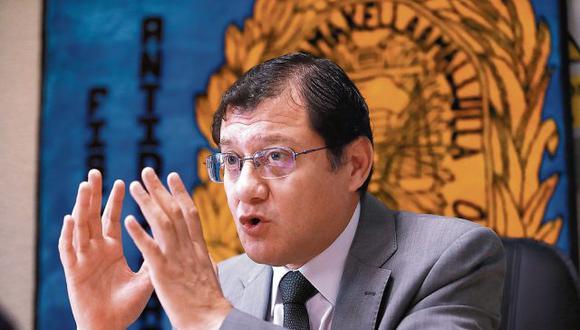 El fiscal Jorge Chávez Cotrina defendió la legalidad de audios y escuchas. (Foto: Lino Chipana / El Comercio)