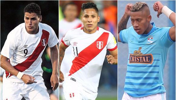 Succar, Ruidíaz y Ray Sandoval son opciones para Ricardo Gareca. (Foto: AFP/USI)