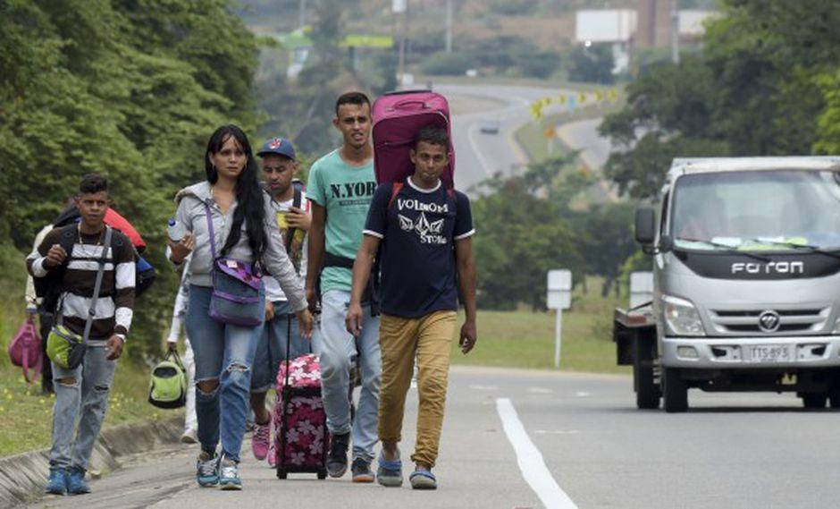 Óscar Pérez precisó que -según cifras de la Superintendencia Nacional de Migraciones- en Perú residen alrededor de 800 mil ciudadanos venezolanos.(Foto referencial: AFP)