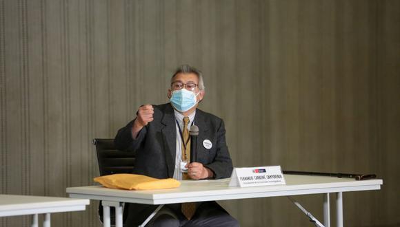 El exministro de Salud Fernando Carbone lidera el equipo de trabajo que investiga los hechos en torno a las más de 400 personas que se vacunaron de manera irregular. (Foto: Andina)