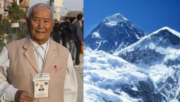 Octogenario murió en el Everest cuando buscaba batir récord