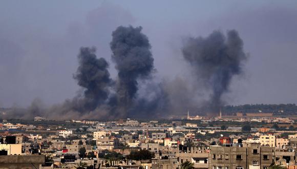 Los bombardeos israelíes sobre Gaza han continuado de manera incesante. AFP / SAID KHATIB