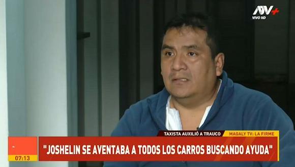 """""""¿Tú tienes hijas?', me preguntó. Le dije que sí. """"Ayúdame, me han violado"""", me respondió"""", contó el chofer en el programa de Magaly Tv La Firme. (ATV)"""