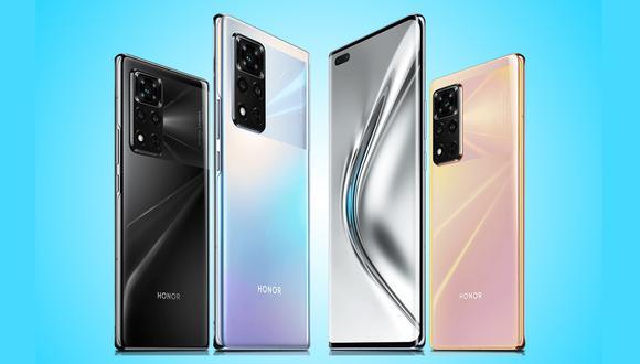 Honor presentó a principios de 2021 el modelo Honor V40, el primero en presentar luego de separarse de Huawei. (Foto: Honor)