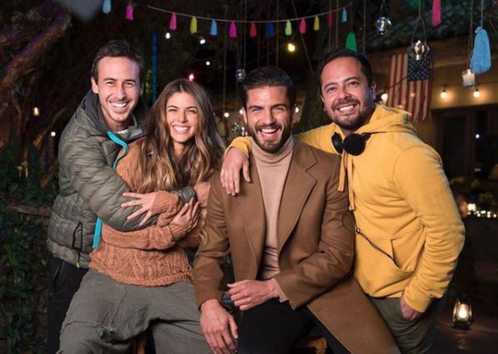 Stephanie Cayo, Bruno Ascenzo y el actor español Maxi Iglesias participan en la primera película original de Netflix hecha en Perú. (Foto: @brunoascenzo)