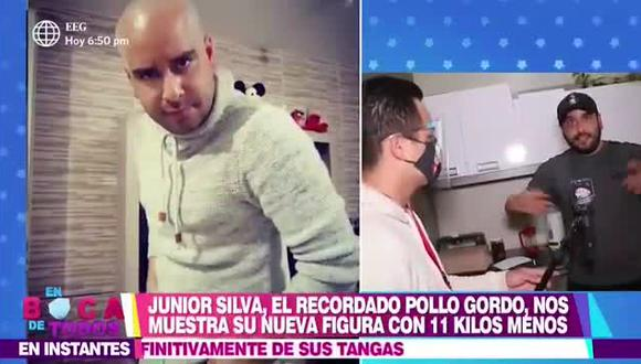 Junior Silva reaparece en TV y sorprende con su cambio físico tras perder peso. (Foto: captura de pantalla)