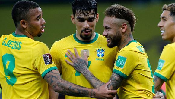 Brasil es líder en las Eliminatorias de la Conmebol; además, será protagonista del primer partido de la Copa América. Conoce aquí el calendario completo, cómo y dónde ver el partido de fútbol en vivo y en directo. (Foto: AFP)