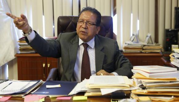 Pablo Sánchez manifestó la necesidad de un mayor respaldo a fiscales de casos emblemáticos. (Foto: Archivo El Comercio)