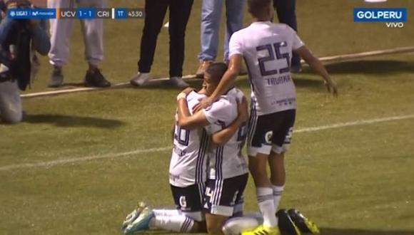 Sporting Cristal vs. César Vallejo EN VIVO: Palacios marcó empate 1-1 tras gran centro de Pacheco   VIDEO. (Foto: Captura de pantalla)