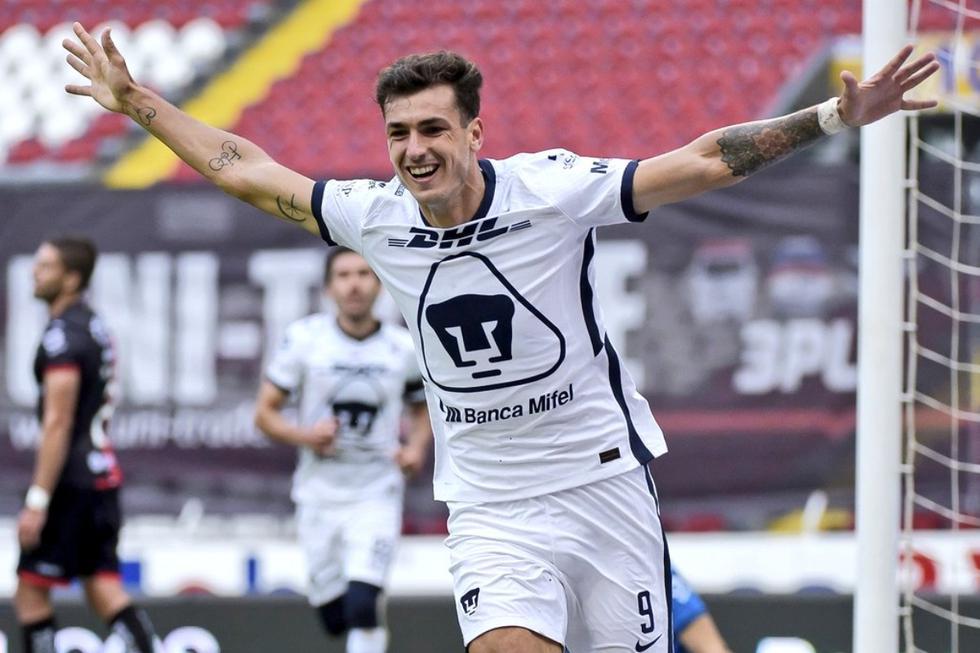 Pumas venció 2-1 en su visita a Atlas con doblete de Juan Ignacio Dinenno | Foto: Pumas