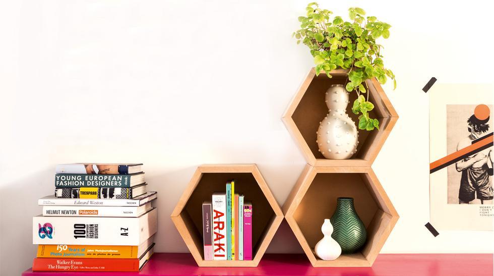 Construye una repisa hexagonal para decorar tu casa - 1