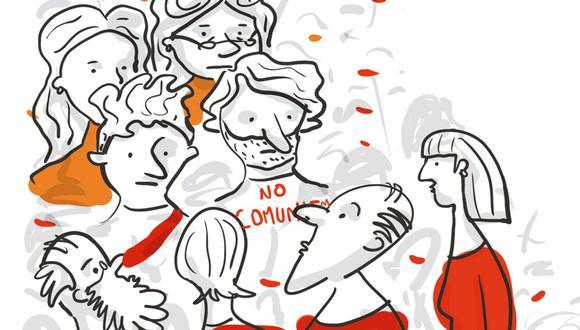 """""""Entonces, ¿qué los asusta tanto del profesor? Lo que con distintas intensidades y grados de paranoia los viene asustando desde hace años en casi todas las elecciones: perder el poder"""". (Ilustración: Giovanni Tazza)"""
