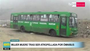 Huaycán: Mujer fallece tras ser atropellada por ómnibus