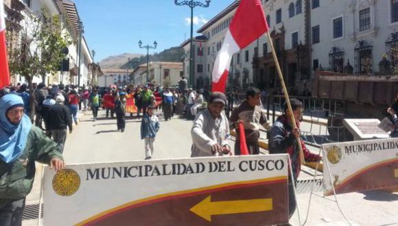 Durante 14 días, cientos de pobladores de La Convención bloquearon las vías contra presuntos actos de corrupción perpetrados por sus autoridades regionales (Foto: Paul Vallejos / El Comercio)