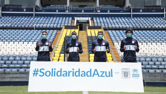 Alianza Lima es el primer club peruano que firma un acuerdo con ACNUR para apoyar la integración de las personas refugiadas | Foto: Prensa Alianza Lima