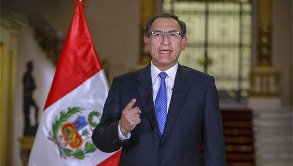 Presidente Martín Vizcarra saludó la decisión que tomó el TC para anular la ley que prohibía la publicidad estatal. (Foto: Agencia Andina)
