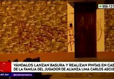 Vándalos lanzan basura y realizan pintas en casa del futbolista Carlos Ascues