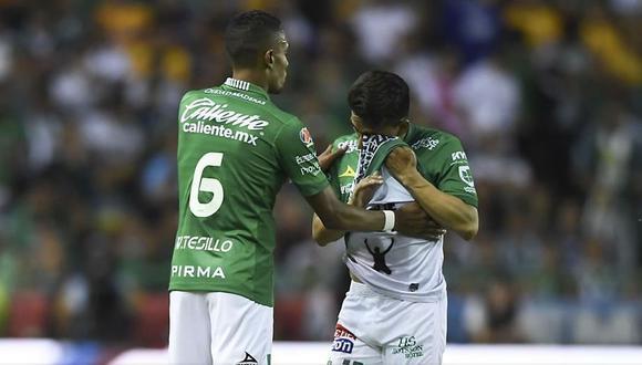León vs. Tigres EN VIVO: Ángel Mena salió lesionado de la final y lloró en el banco de suplentes   VIDEO. (Foto: AFP)