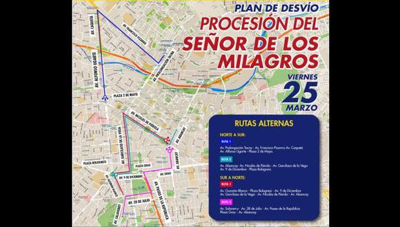 Centro Histórico: cierran tránsito vehicular por procesión