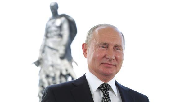 El presidente de Rusia, Vladimir Putin, da un discurso televisado a la nación en la región rusa de Tver el 30 de junio de 2020. (Foto: Mikhail Klimentyev / SPUTNIK / AFP).
