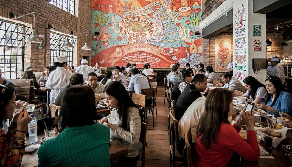 Siete Sopas. Desde su apertura se convirtió en uno de los locales más solicitados de Lince. A su oferta de sopas, también se suman variados platos criollos. Dirección: Av. Arequipa 2394, Lince. (Foto: Facebook - SIETE SOPAS)