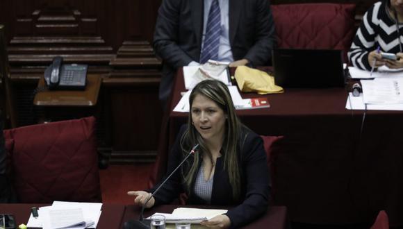 La congresista Yeni Vilcatoma reiteró su rechazo a proyecto de adelanto de elecciones (Foto: Anthony Niño de Guzmán)