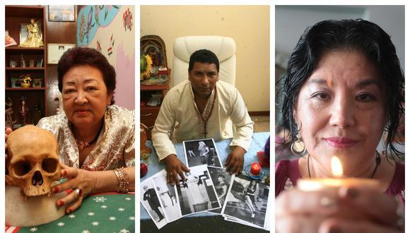 Rosita Chung, Hayimi y Coty Zapata. Además de videntes, tienen en común el hecho de haber sido consultados por los gobernantes de turno de las últimas décadas. (Imagen: Composición/ EC)
