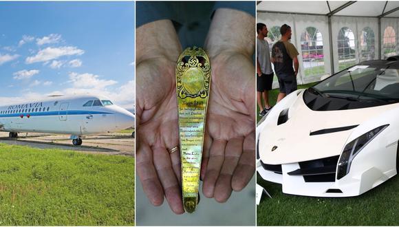 Aviones, carros de lujo y joyas suelen ser objetos muy preciados por los dictadores y sus familias. Cuando algunas de estas pertenencias son recuperadas por los Estados, son puestas a la venta.