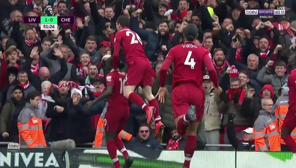 Sadio Mané abrió el marcador en el Liverpool vs. Chelsea. (Foto: captura de video)