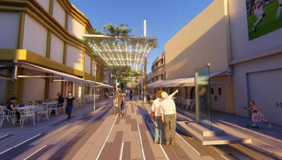 La comuna inició las obras para construir un bulevar en la excalle de las Pizzas (Foto: Municipalidad de Miraflores)