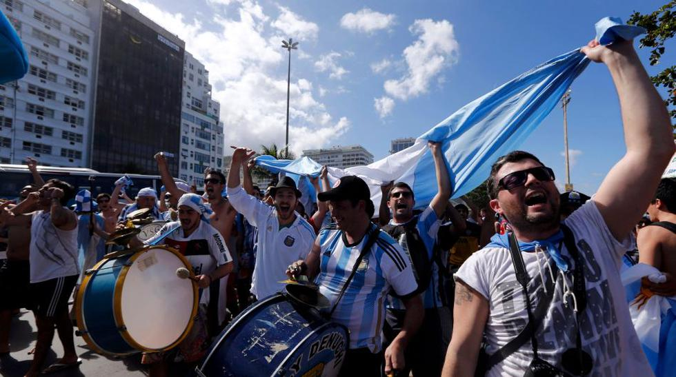 Alemania vs. Argentina: hinchas alborotan las calles de Río  - 1